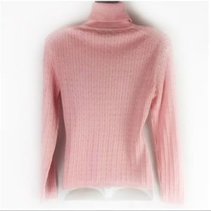 Brooks Brothers Sweaters - BROOKS BROTHERS   sweater turtleneck pink cable S